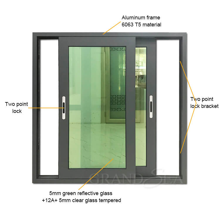 Best Waterproof Aluminum Alloy Horizontal Sliding Double Glass Window China Waterproof Aluminum Alloy Horizontal Sliding Double Glass Window Suppliers Cngrandsea Com