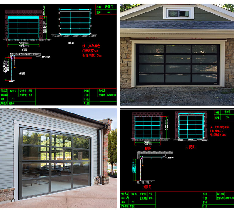 customized size garage doors