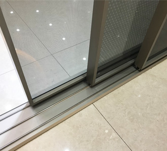 narrow frame aluminum sliding door