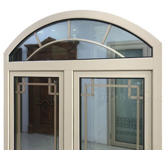 Best Beige Color Aluminum Frame Arch Window Grill Design Casement Windows China Beige Color Aluminum Frame Arch Window Grill Design Casement Windows Suppliers Cngrandsea Com