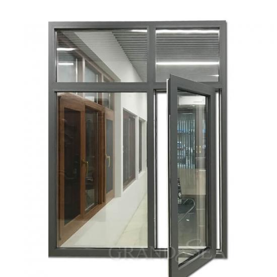 grey color aluminum casement window