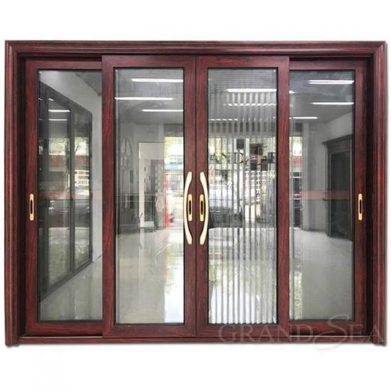 aluminum double glazed sliding door