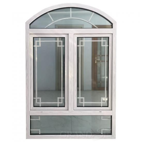 Double glazed arched casement windows