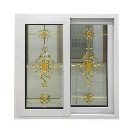sliding window with flower design