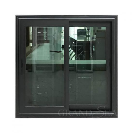 black aluminum sliding window