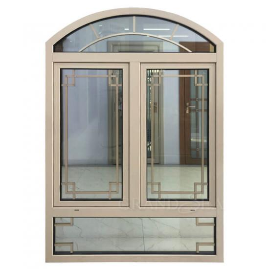 beige color aluminum windows