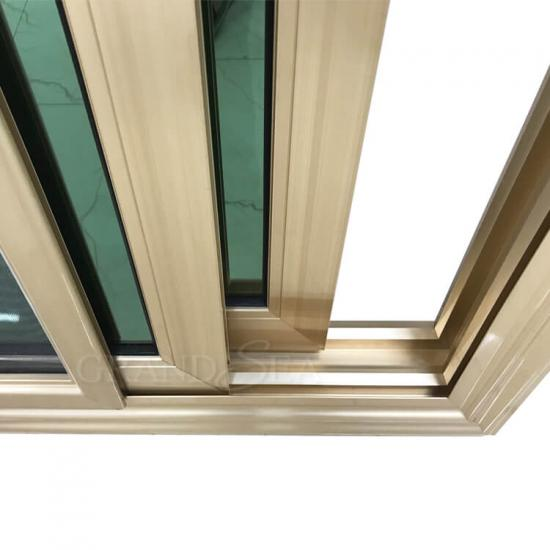 gold color aluminum sliding windows