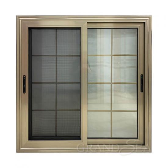 champagne aluminum sliding window