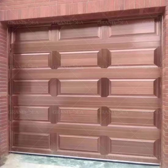 copper color aluminium garage doors