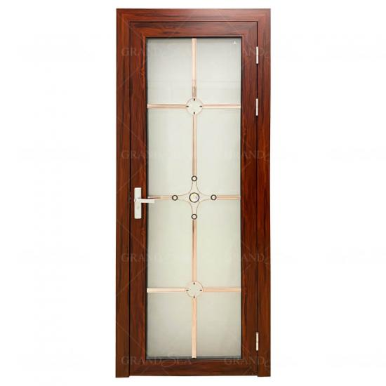 toilet frosted aluminium glass door