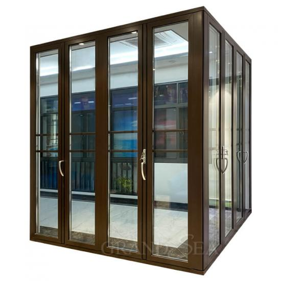 aluminum corner bi folding door