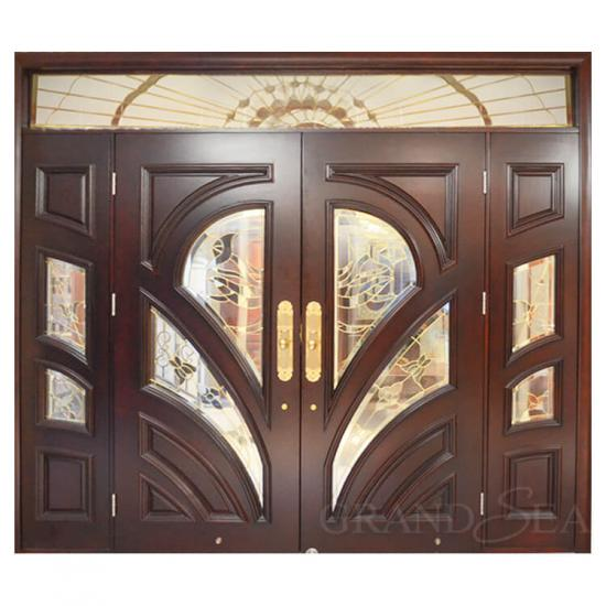 double wood doors