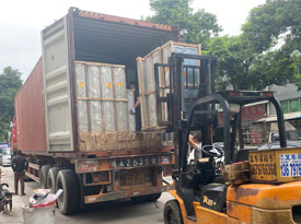40HQ aluminum windows and doors loading to Nigeria