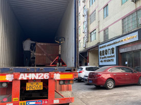 A container full of windows and doors ship to Lebanon